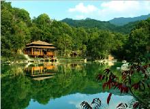 万绿谷原始生态、空中漂流、乘豪华游轮游东江画廊风景区叶园温泉两天游