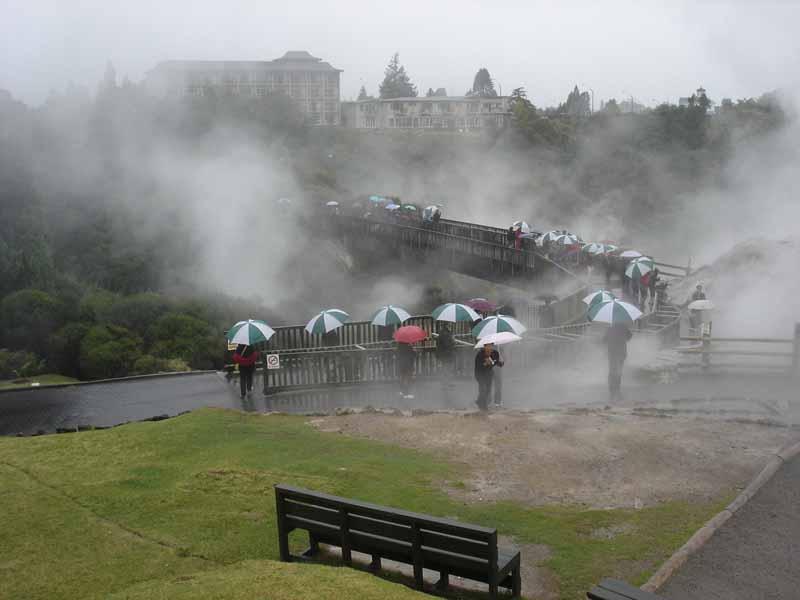 地热保护区及火山喷泉区